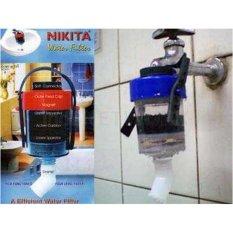 Nikita Water Filter - Penyaring Air Efisien - Saringan Kran Merah/Biru