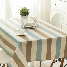 Nordic Table Waterproof Lattice Table Cloth Cotton Fabric Cloth Rectangular Desk Modern Minimalist Art 90*90CM - Intl - Intl
