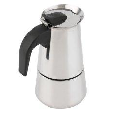OH 6-Cup Percolator Stove Top Coffee Maker Moka Espresso LatteStainless Pot Silver