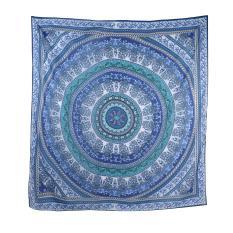 Oanda Mandala Beach Chiffon Beach Blanket (Deep Blue)
