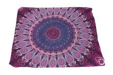 Oanda Mandala Beach Chiffon Beach Blanket (PurpleRed)