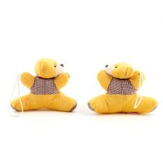 OH 1 Pair Baby Kid Nursery Bedroom Cartoon Bear Curtain Tieback Holder Buckle (Yellow)