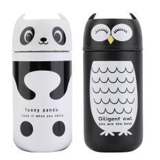 OH 220ml Panda & Owl Stainless Steel Vacuum Flask Cup Outdoor Water Bottle
