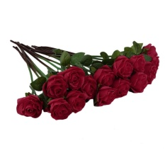 OH Creative Real Latex Touch Rose Flowers For wedding Party Bouquet Decor Red - intl