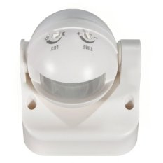 Outdoor 180 Degree Security PIR Motion Sensor Detector Switch White