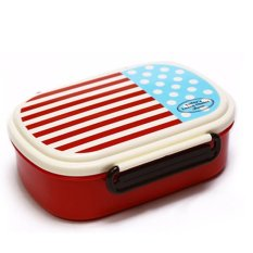 Plastic Lunch Box.Dinner Pail.Thermal Insulation Bento Box.Snack Picnic Box.Fresh Keeping Storage Box.Vegeable & Fruit Box. (Ellipse-Red) - Intl