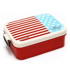 Plastic Lunch Box.Dinner Pail.Thermal Insulation Bento Box.Snack Picnic Box.Fresh Keeping Storage Box.Vegeable & Fruit Box. (Square-Red) - Intl
