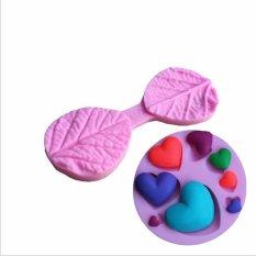 Poplar Leaf Fondant Cake Molds And 3D Various Love Heart Shape Fondant Chocolate Mold - Intl