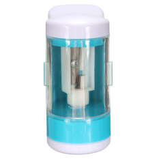 Portable Automatic Electric Desktop Pencil Sharpener Battery Operated For School Blue