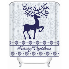 Pretty Deer Waterproof Polyester Thickened Shower Curtain Bathroom Products Bath Curtains W180CM X H200CM