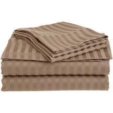 "Rajlinen 4 PCs Sheet Set Stain Resistant Bland Durable 800-Thread-Count Egyptian Cotton Rich (15"" Deep) RV King (72X80"") Taupe Stripe - intl"