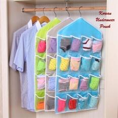 Rak Tempat Celana dalam gantung - Korean underwear pouch 16 sekat