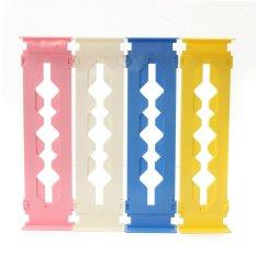 Retractable Clapboard Drawer Divider Storage Organiser Kitchen Wardrobe (Yellow)