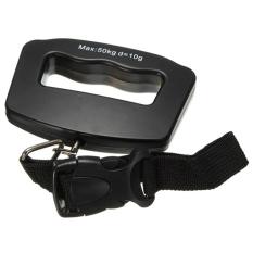 Rondaful Pocket Portable 50kg / 10g LCD Digital LCD Electronic Hand-Luggage Belt Hook Hanging Scale Backlight Balance (Intl)