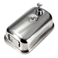 S & F Bathroom Kitchen Stainless Steel Wall Mounted Lotion Pump Soap Shampoo Dispenser