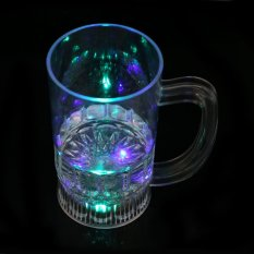 S & F New Water Inductive Glowing Beer Cola Mug Cup with LED Flashing Light