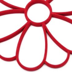 S & F Sun Flower Petals Flocking Plastic Silk Hanger Hook Belt Scarves Organiser Rack Light Red (Intl)