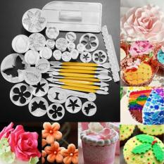 Sale! 12 Sets 37pcs Fondant Cake Decorating Tools Cookie Sugar Craft Decorate Plunger Cutters Tools Cake Decorating Set DIY Cake