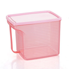 Seal With A Handle Can Be Superimposed Storage Box Storage Box - Pink
