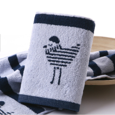 Set Of 4 100% Cotton Thickened 70*34cm Face Towel Hand Towel Soft and Water Absorption (Intl)