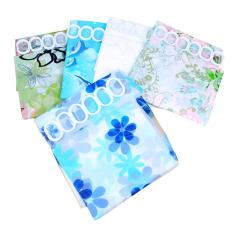 Shower Curtain Bathroom Waterproof Polyester Fabric Random Pattern New Hook