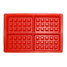 Silicone 4-Cavity Waffles Cake Chocolate Pan Baking Mould Donut Maker (Intl)