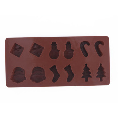 Silicone Christmas Tree Snowman Chocolate Cookies Cake Baking Mold (Intl)