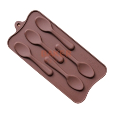 Silicone Mold 5 Lattices New Styling DIY Spoon Chocolate Molds Ice Cube Molds SICM-115-9 - Intl