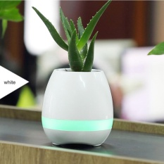 Smart Music Flower Pots Intelligent Touch Bluetooth Speaker Plant Pots with Colorful LED Night Light - intl