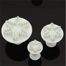 Snowflake Plunger Cutter Mold For Cake (Intl)