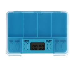 Square Box 4 Day Pill Box Medicine Tablet Storage (Sky Blue) - Intl