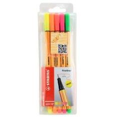 Stabilo 8.5-Color Neon Wallet Set - Intl