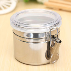 Stainless Steel Airtight Sealed Canister Coffee Flour Sugar Tea Container Holder Small