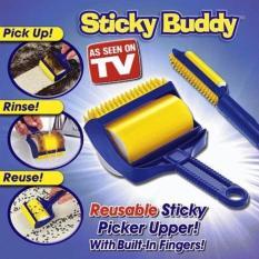 Sticky Buddy Alat Pembersih Bulu dan Debu 2 in 1 Besar dan Kecil