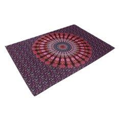 Summer Rectangle Mandala Beach Hippie Yoga Mat Towel Bohemian Tapestry Shawl - Intl