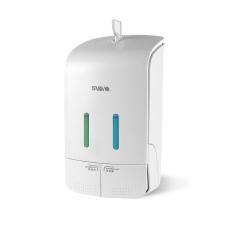 SVAVO Manual Double Soap Shampoo Shower Gel Dispenser PL-151052 (White) 550ml*2 - Intl