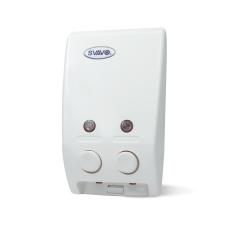 SVAVO Manual Soap Shampoo Sanitizer Dispenser Dual Bottle V-102 (White) 400ml*2 - Intl
