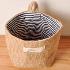 Tidy Bag.1 Pockets Storage Tidy Over Door Wall Hanger Box Holder Hanging Organizer Bag. (Blue / Stripe) - Intl