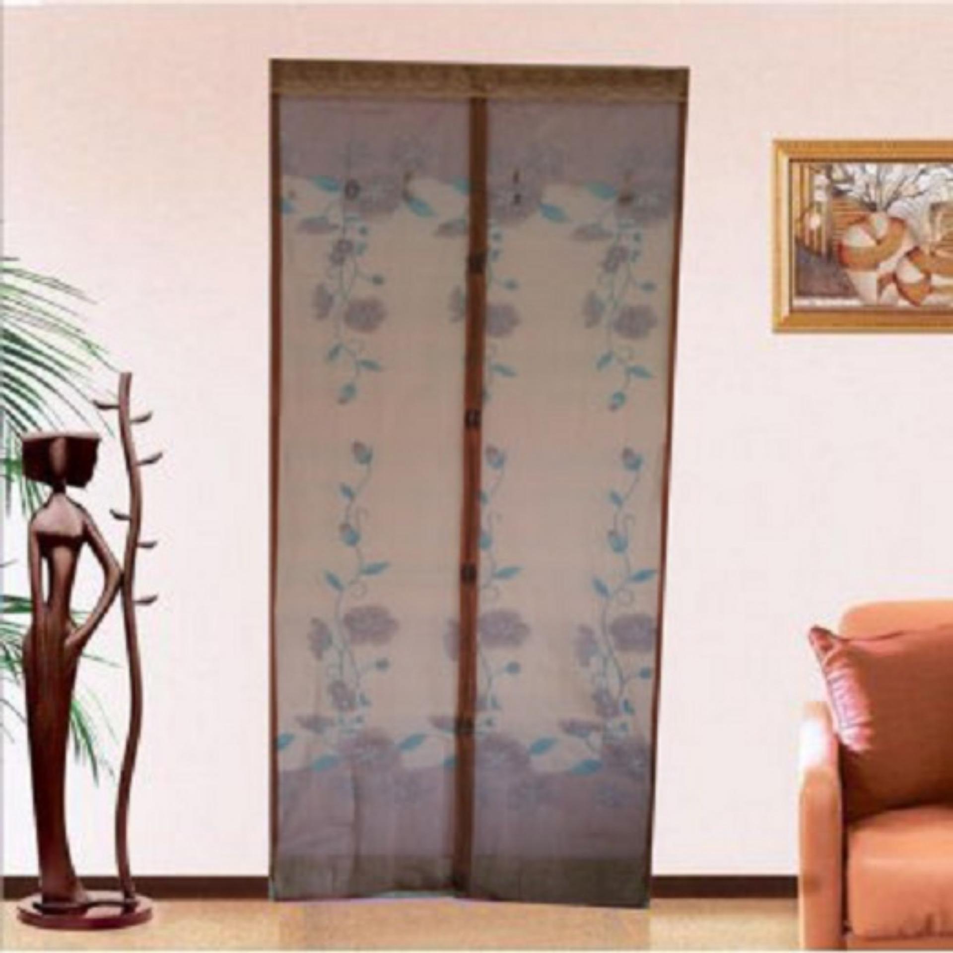 Motif Bunga Pink dan Kelebihan Source · Harga Spesifikasi Retail Station Tirai Pintu .