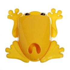 Toothbrush Holder Cute Blue Frog Model Toothbrush Holders (Yellow)