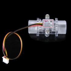 BolehDeals Transparent Water Flow Sensor Flowmeter Hall Flow Sensor Water Control 1-30L / Min