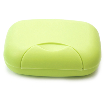 Travel Plastic Soap Box Dish Holder Container Storage Box With LockLarge Size Green