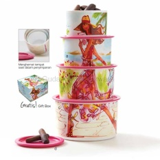 Tupperware Miss Belle Canister 4 pcs - Toples Susun 4 Ukuran
