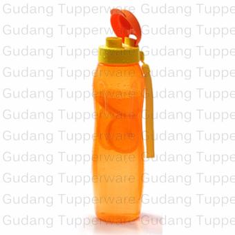 Tupperware New Eco Bottle 1 Liter Orange + Tali