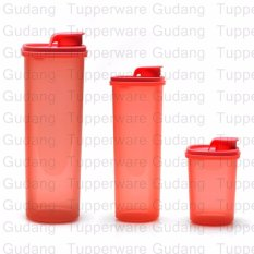 Tupperware Smart Saver Round Set - 3 pcs - Warna Guava