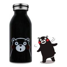 Universal Botol Minum Stainless Steel Anak Gambar Kartun 350ML - Mk02 - Black