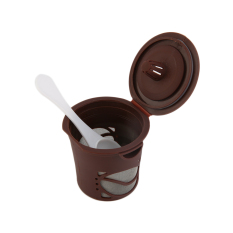 USTORE 1pc Refillable Coffee Capsules Pod For Nespresso Stainless Steel Filters