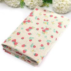 Variety Vintage Retro European British Style Cotton Linen Fabric Patchwork Cloth Strawberry - Intl