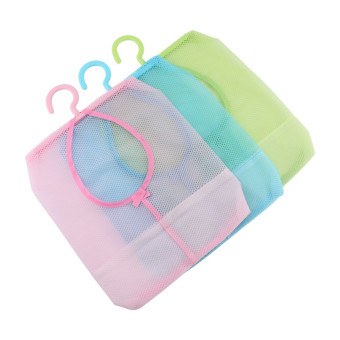 Versatile Kitchen Bathroom Clothesline Storage Hanging Bag Holder (Green)