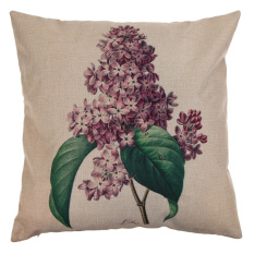 Vintage Cotton Pillow Case Flower and Leaves (Intl)